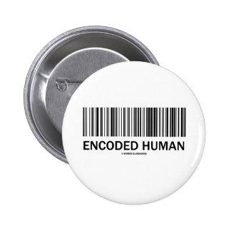 Encoded Human (Barcode Attitude) Pinback Button