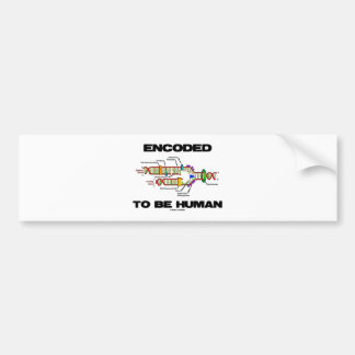 Encoded To Be Human (DNA Replication) Bumper Stickers