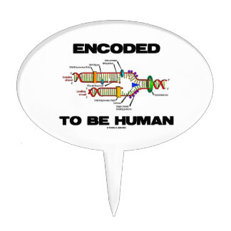 Encoded To Be Human (DNA Replication) Cake Toppers