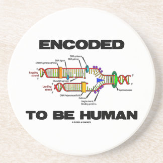 Encoded To Be Human (DNA Replication) Drink Coaster