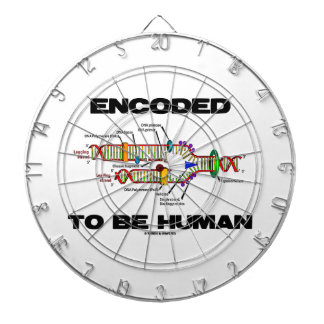 Encoded To Be Human (DNA Replication) Dartboard With Darts