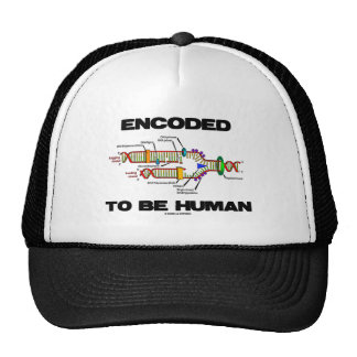 Encoded To Be Human (DNA Replication) Mesh Hats