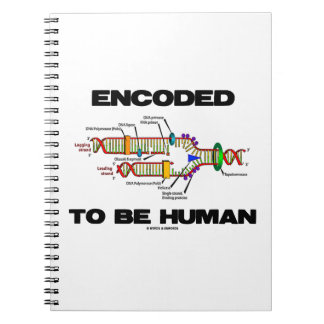 Encoded To Be Human (DNA Replication) Spiral Note Books
