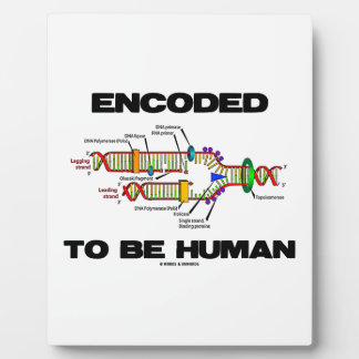 Encoded To Be Human (DNA Replication) Display Plaque