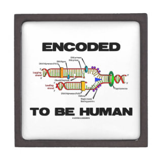 Encoded To Be Human (DNA Replication) Premium Jewelry Boxes