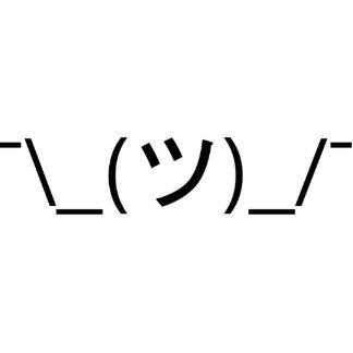 Encoja el ¯ \ a los japoneses Kaomoji del Emoticon Fotoescultura Vertical