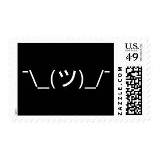 Encoja el ¯ \ a los japoneses Kaomoji del Emoticon Sello Postal