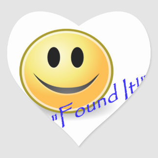¡Encontrado le! Geocaching Pegatina En Forma De Corazón