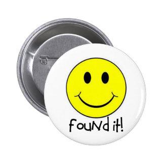 ¡Encontrado le! Pin Redondo De 2 Pulgadas