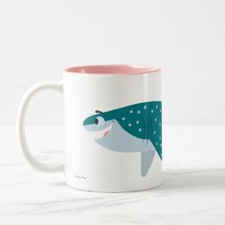 Encontrando destino del Dory el | el tiburón de Taza De Café De Dos Colores
