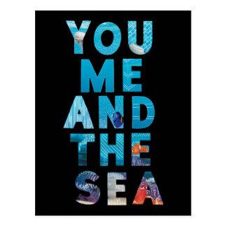 Encontrando el Dory el   usted yo y el mar Postal