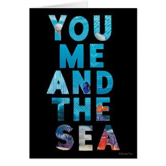 Encontrando el Dory el | usted yo y el mar Tarjeta De Felicitación