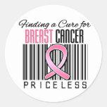Encontrando una curación para el cáncer de pecho pegatinas redondas