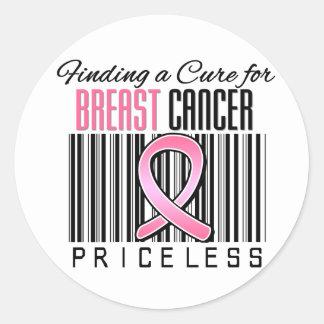 Encontrando una curación para el cáncer de pecho pegatina redonda