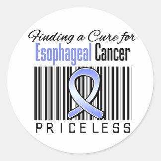 Encontrando una curación para el cáncer del esófag pegatina redonda