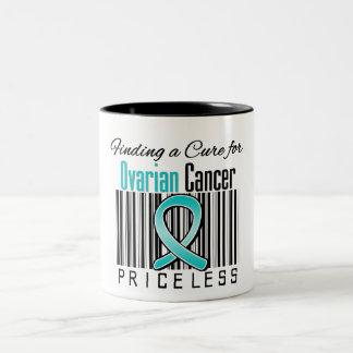 Encontrando una curación para el cáncer ovárico taza de dos tonos
