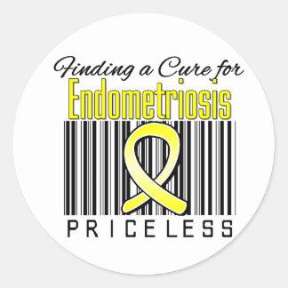 Encontrando una curación para la endometriosis etiquetas redondas