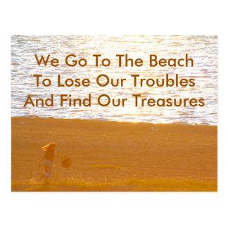 Encontrar cita y fotografía de la playa de los tes postales