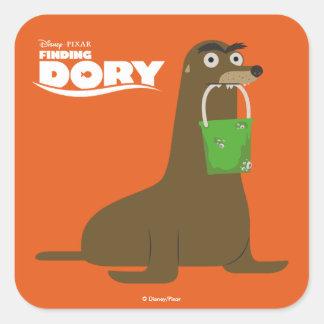 Encontrar el Dory el | Gerald Pegatina Cuadrada