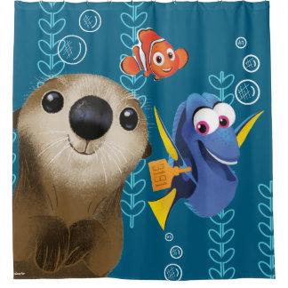 Encontrar el Dory el | Nemo, el Dory y la nutria Cortina De Baño