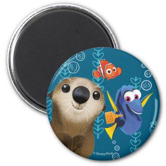 Encontrar el Dory el | Nemo, el Dory y la nutria Imán Redondo 5 Cm