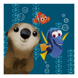 Encontrar el Dory el | Nemo, el Dory y la nutria Póster
