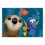 Encontrar el Dory el   Nemo, el Dory y la nutria Tarjeta De Felicitación