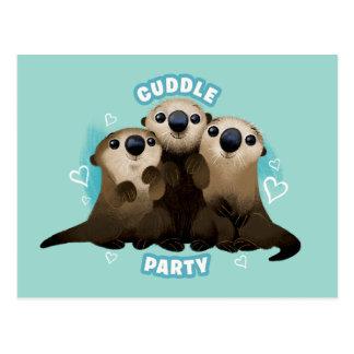 Encontrar el fiesta de la abrazo de las nutrias el tarjeta postal
