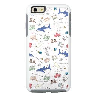 Encontrar el modelo del blanco del dibujo animado funda otterbox para iPhone 6/6s plus