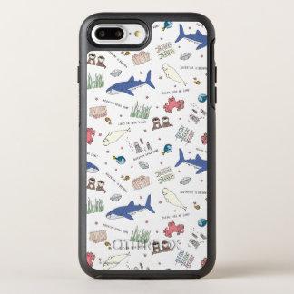 Encontrar el modelo del blanco del dibujo animado funda OtterBox symmetry para iPhone 7 plus