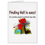 Encontrar infierno es fácil felicitaciones