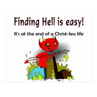 Encontrar infierno es fácil postal