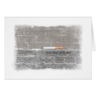 Encontrar la fuerza para abandonar el fumar del tarjeta de felicitación