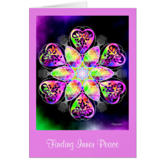 Encontrar paz interna tarjeta de felicitación