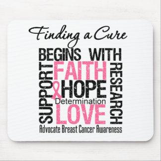 Encontrar una curación para el cáncer de pecho alfombrilla de ratón