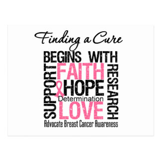 Encontrar una curación para el cáncer de pecho tarjeta postal