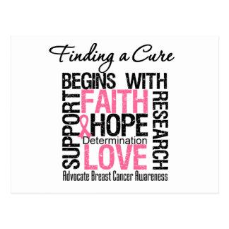 Encontrar una curación para el cáncer de pecho tarjetas postales