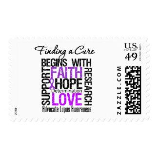 Encontrar una curación para el lupus sello postal