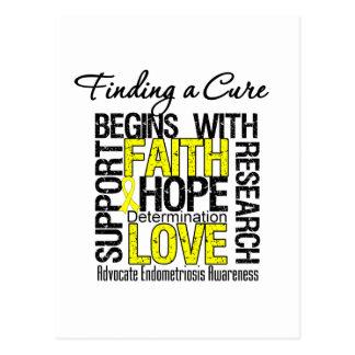 Encontrar una curación para la endometriosis tarjetas postales