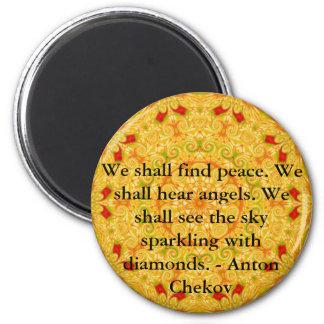 Encontraremos paz. Oiremos ángeles ......... Imán Redondo 5 Cm