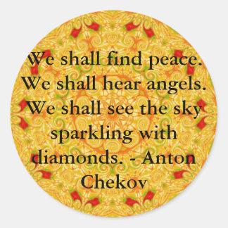 Encontraremos paz. Oiremos ángeles ......... Pegatina Redonda