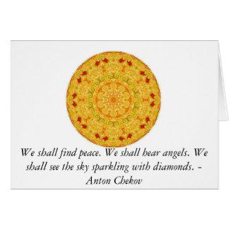 Encontraremos paz. Oiremos ángeles ......... Tarjeta De Felicitación