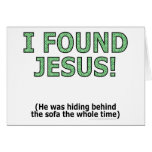 ¡Encontré a Jesús! Él ocultaba detrás del sofá… Felicitaciones
