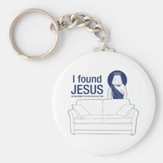 Encontré a Jesús que él era detrás del sofá el ti  Llaveros Personalizados