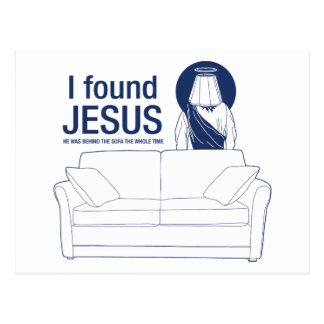 Encontré a Jesús que él era detrás del sofá el ti Postal