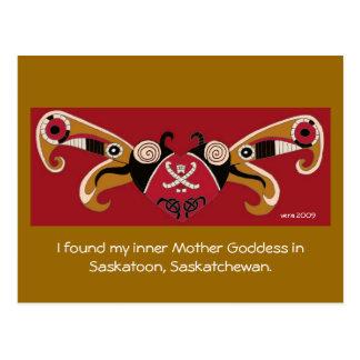 Encontré a mi diosa interna de la madre tarjeta postal
