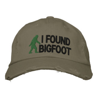 Encontré Bigfoot * logo* grande Gorra De Béisbol