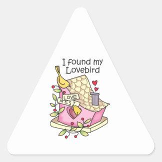 Encontré mi Lovebird Pegatinas Trianguladas