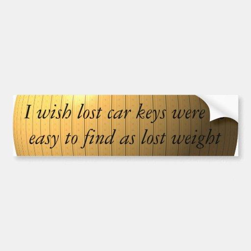 Encontré mi peso perdido, qué sobre llaves del coc etiqueta de parachoque