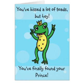 Encontró a su príncipe - tarjeta del compromiso